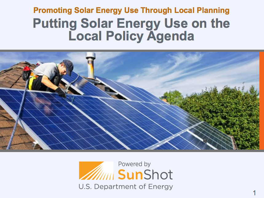 Planning And Zoning For Solar Energy Putting Solar Energy